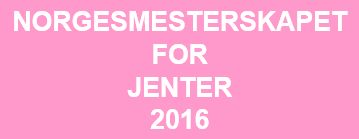 NM for jenter 2016